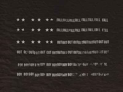 Fall Out Flag distressed grunge minimal rock american flag merch boy out fall