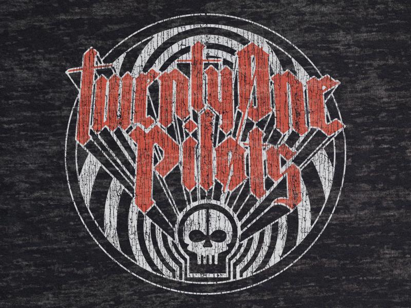 TØP Zone Skull metal psychedelic rock classic skeleton skull retro vintage pilots one twenty