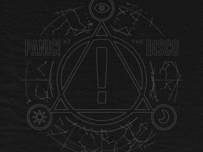Panic! Constellation constellation sacred merch cult geometry space disco panic
