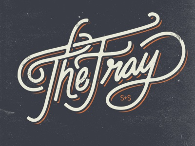 Fray Scripted hand drawn custom authentic fray script type typography lettering cursive logo merch apparel band music heritage