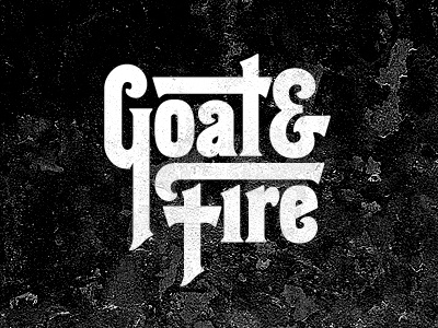 Goat+Fire logo radio siriusxm typography vintage 70s hessian lettering