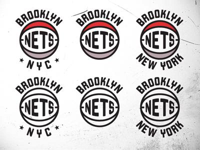 Nets Variations nets brooklyn new jersey contino nba logo vintage throwback basketball