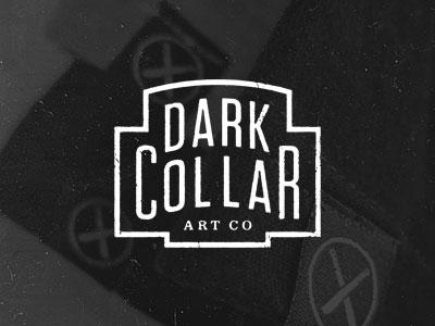 Dark Collar Art Co. dark collar art co brandon rike logo letterhead stamp icon typography solid utility vintage retro
