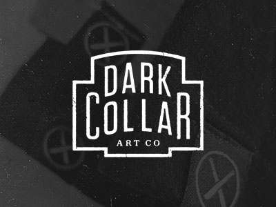 Dark Collar Art Co. dark collar art co brandon rike logo letterhead stamp icon typography solid utility vintage retro