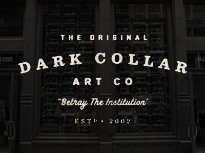 Classic Dark Collar dark collar logo vintage old heritage artisan typography letterhead masthead