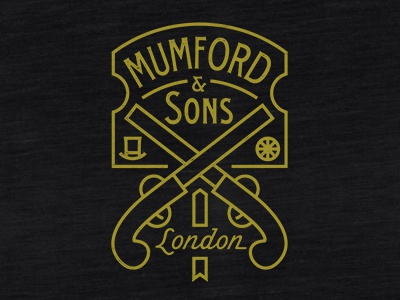 Mumford Pistols mumford and sons pistols olde old timer fashioned typography gentlemen