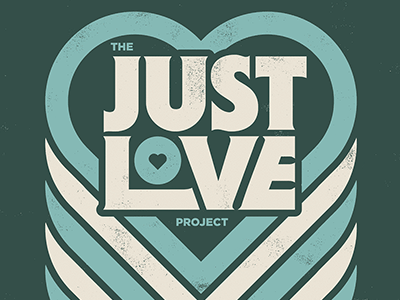 Just Love just love poster project design graphic heart retro