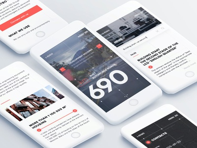 Design concept for the adaptive website interaction simple clean interface material design development content view ios concept fullscreen interactions ui ux web
