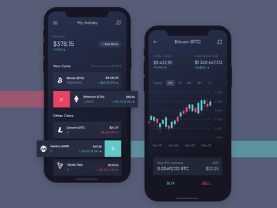 Coin Stars App Concept bitcoin exchange token payment wallet cryptocurrency schedule ios mobile crypto blockchain app