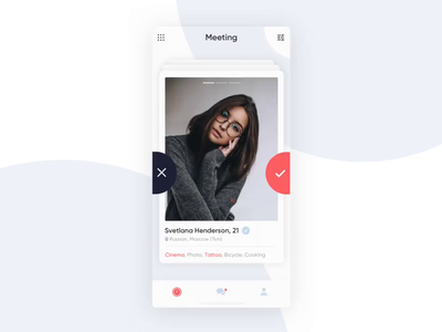 Dating App Concept clean motion tinder animation ux ui woman concept app dating app dating
