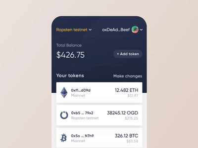 OnGrid Systems WAT crypto wallet - Transition transition after effects clean animation motion app bank concept ux ui wallet interaction