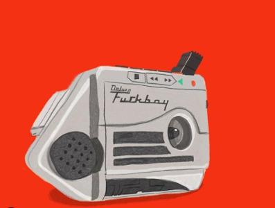 Talkboy F*ckboy fuckboy toys nostalgia retro design pencil illustrator crayon illustration talkboy