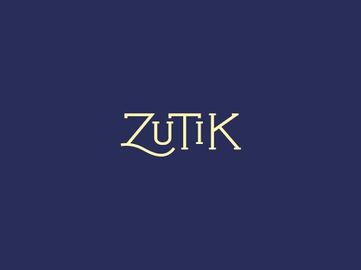 Zutik Restaurant logo brand logotypo identity restaurant french paris