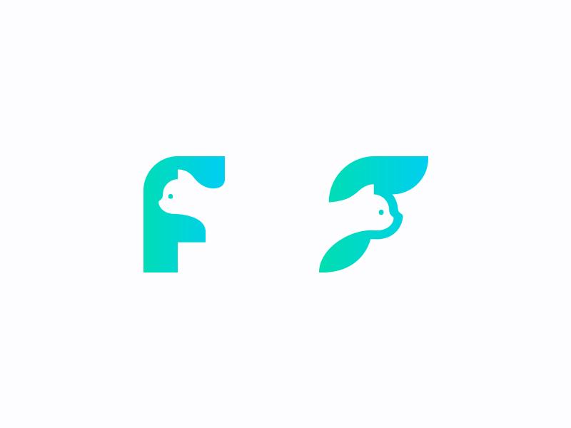 Cat x F mark brand logo f medical veterinary cat