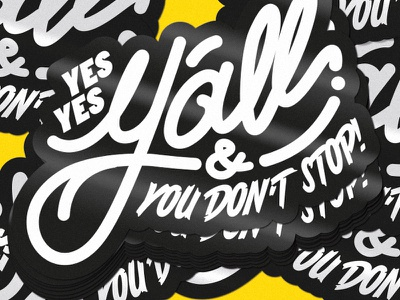 """""""YES YES Y'ALL"""" stickers! 👀 common hiphop lettering stickermule stickers yesyesyall"""