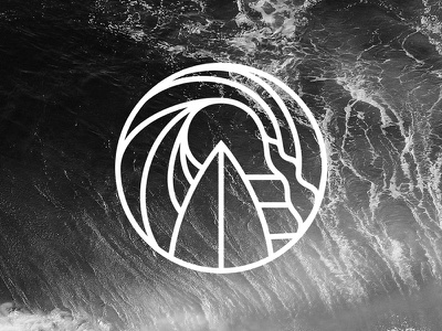 Symbol for a new surf project vector logo brand surf symbol logotype