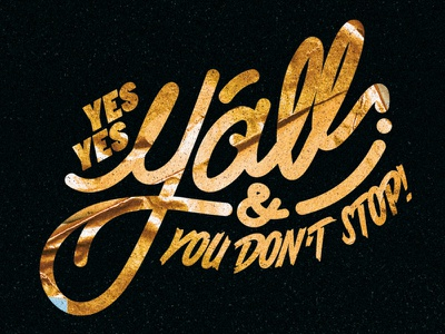 Yes Yes Y'all and You Don't Stop gold goldleaf lettering common hiphop