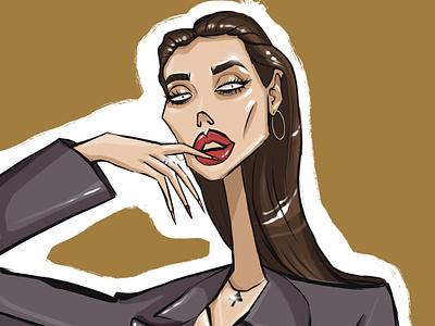 Instagram avatar animation person fashion design illustrator girl character illustration