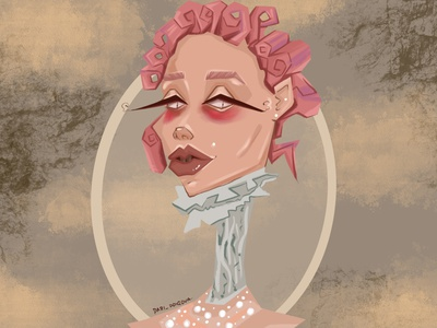 Illustrations for a beauty salon person fashion design girl character illustrator illustration