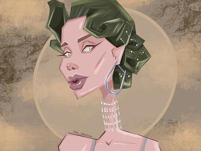 poster for a beauty salon logo person fashion design character illustrator illustration beauty salon girl interior poster