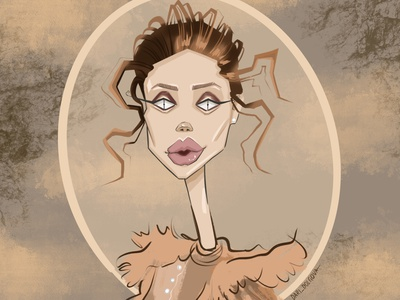 Illustration for a beauty salon person fashion design girl character illustrator illustration