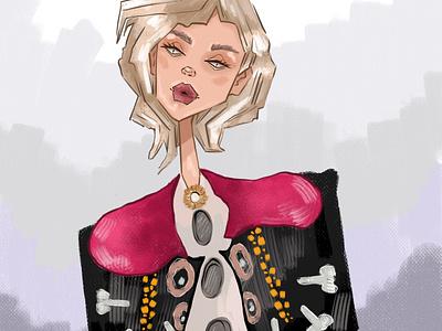 Fashion girl logo fashion person design girl character illustrator illustration