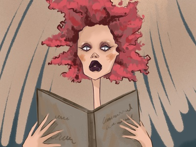 A woman with a book publishing house books book illustration person fashion design girl character illustrator illustration