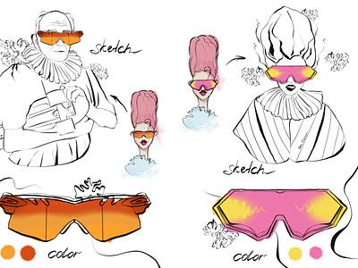 Fashion glasses. Design. logo person fashion design girl character illustrator illustration glasses