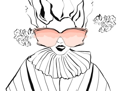 Fashion sketch person fashion design girl character illustrator illustration