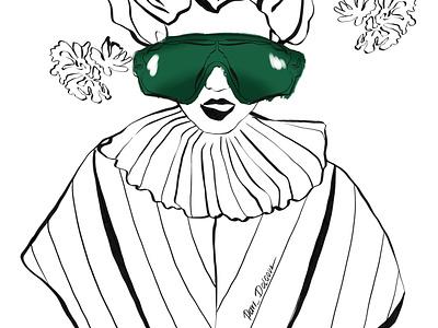 Glasses glasses person fashion design girl character illustrator illustration