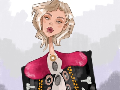 Girl person fashion design girl character illustrator illustration