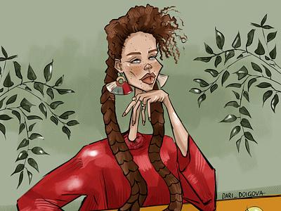 Fashion girl person fashion design girl character illustrator illustration