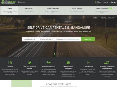 Zoom car home page ux redesign concept visual design