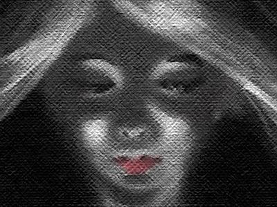 Digital black n white sadness girl black a d white digital photoshop