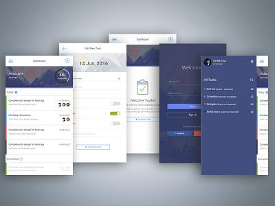 Todo App mobile design sketch photoshop todo app mocks ux design