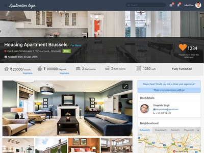 Rent - a - house color accommodation stats maps design holiday renting photoshop visual user experience