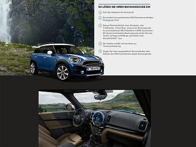 BMW - MINI COUNTRYMAN MAN ux car design photoshop bmw landingpage