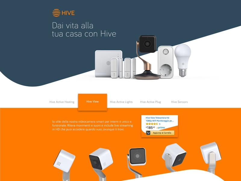 Advert landing page concept for Hive home home security advertisement design photoshop ux