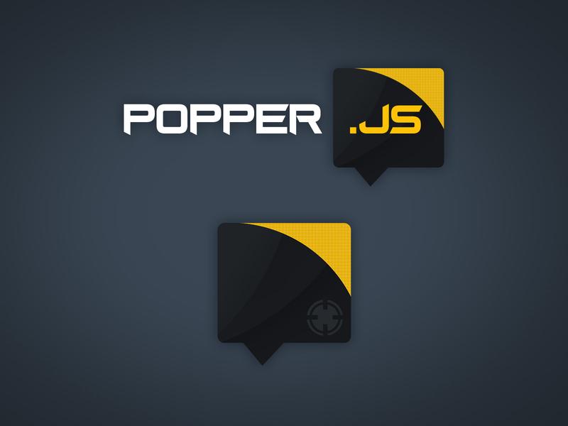 PopperJS - Logo concept vector digital illustration branding logo design