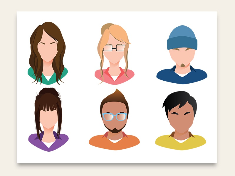 Avatars avatar design character digital vector adobe illustrator illustration