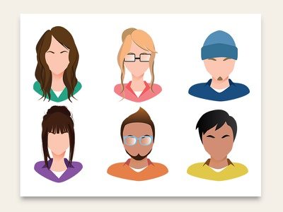 Avatars avatar design character digital vector adobe illustrator illustration
