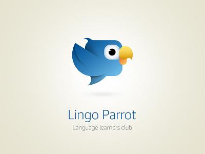 Lingo Parrot Logo Variation1 branding logo vector illustration