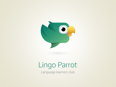Lingo Parrot Logo Variation2 icon logo illustration vector branding digital
