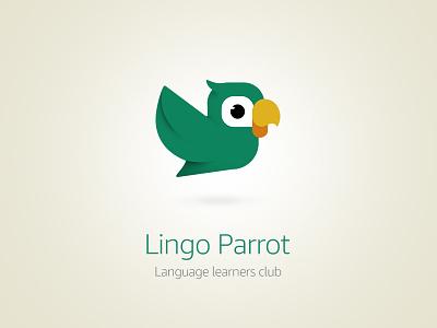 Lingo Parrot Logo Variation3 icon logo vector branding digital illustration