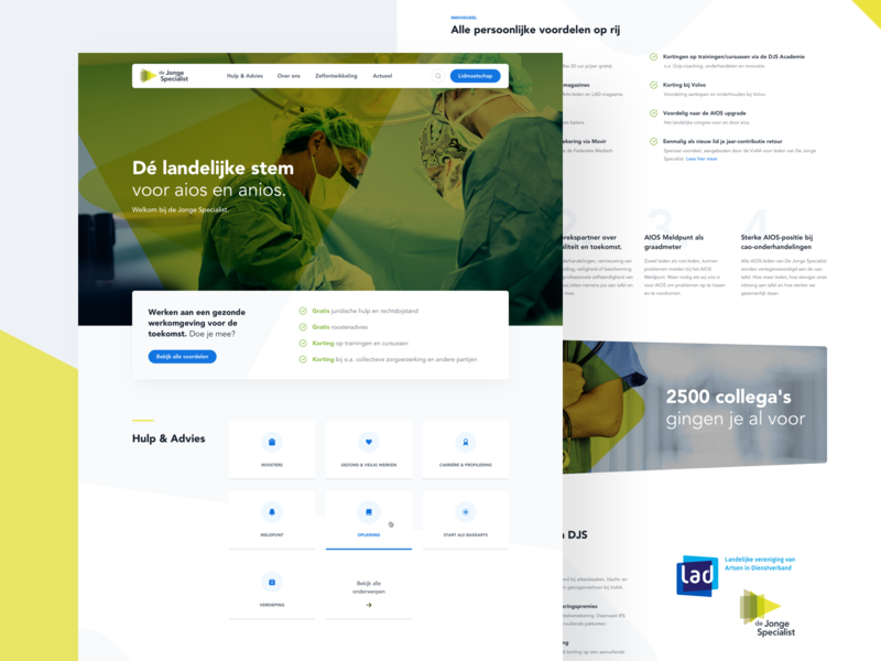 De Jonge Specialist rounded union students doctors medical ui