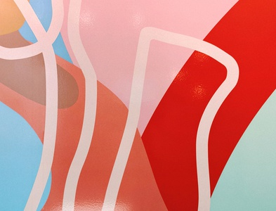 Mural Colors abstract shapes wip color palette mural