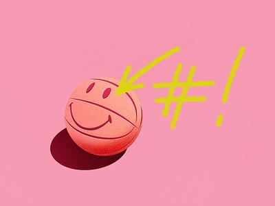 Hashbang linux shadows texture smile basketball wip illustration