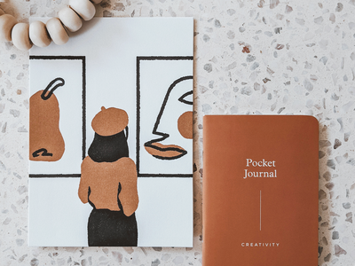 Creativity Mini Print art matisse letterpressed mini print creativity minimal illustration