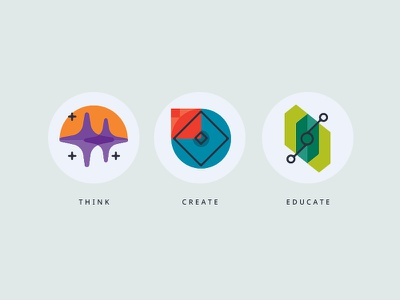 Think / Create / Educate Icons icons mid-century moderns abstract