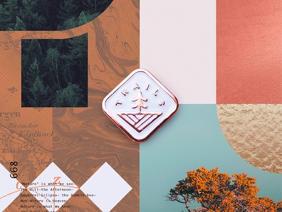 Trails Pin Giveaway rose gold freebie giveaway nature badge hiking trails pin